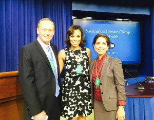 Crystal Garrett attending the White House summit on Climate Change